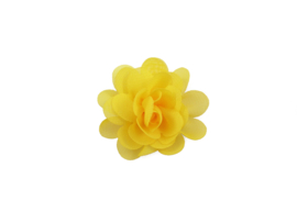 Haarbloem stof geel