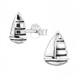 Kinderoorbellen Sterling zilver 925 Zeilboot