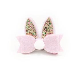 Lokknipje konijnenoortjes roze