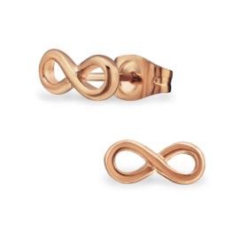 Oorbellen Chirurgisch staal Infinity
