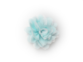 Haarbloem glitter aqua/wit