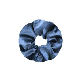 Haarelastiekjes velvet scrunchie blauw