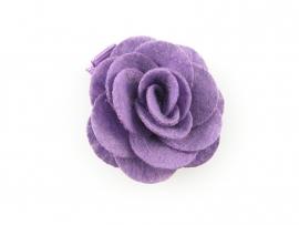 Haarbloem vilten roos paars