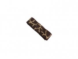 Babyhaarspeldje met lint bruine giraffeprint