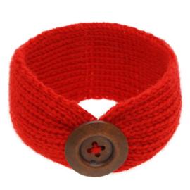 Haarbandjes gebreid knoop rood