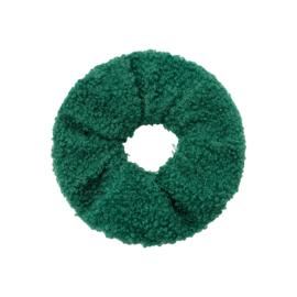 Haarelastiekjes teddy scrunchie groen