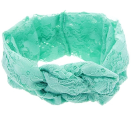 Haarbandjes kant groen