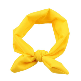 Haarbandjes knoop geel