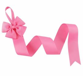 Haarspeldhouder met strik roze