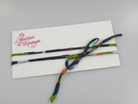 Haarbandjes strik blauw met print