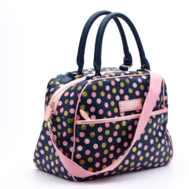 Zebra kidsbag - Blue Dots (L)