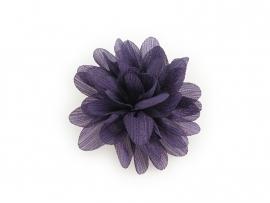 Haarbloem glitter paars
