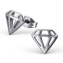 Oorbellen Chirurgisch staal Diamant