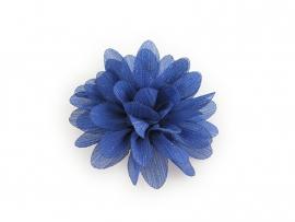 Haarbloem glitter kobaltblauw