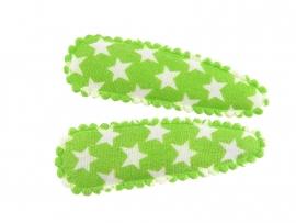 Haarspeldjes groen met ster