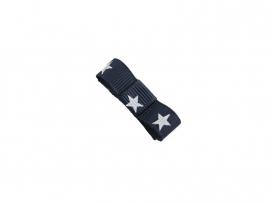 Babyhaarspeldje met lint donkerblauw met ster