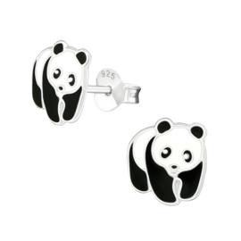 Kinderoorbellen Sterling zilver 925 Pandaberen
