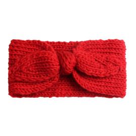 Haarbandjes gebreid rood