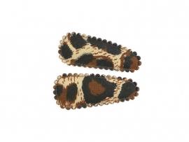 Babyhaarspeldjes bruine panter