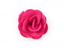 Haarbloem roos vilt klein