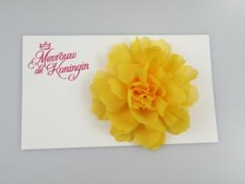 Haarbloem chiffon groot geel