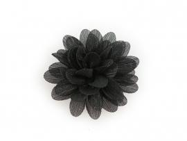 Haarbloem glitter zwart