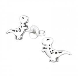 Kinderoorbellen Sterling zilver 925 Dinosaurus