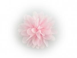 Haarbloem glitter roze