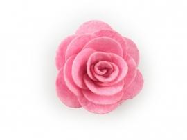 Haarbloem vilten roos roze
