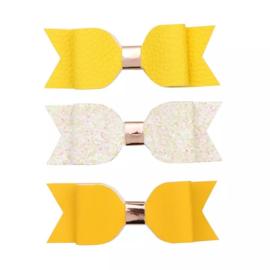 Lokknipje leder  voordeelset geel