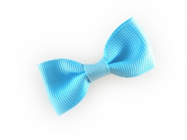 Lokknipjes kleine strik lint lichtblauw