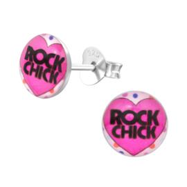 Kinderoorbellen Sterling zilver 925 Rock chick