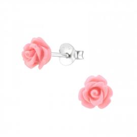 Kinderoorbellen Sterling zilver 925 Roos roze/peach