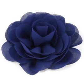 Haarbloem groot stof bloem blauw