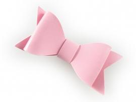 Lokknipje strik leder roze