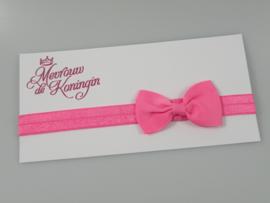 Haarbandjes elastisch strik roze