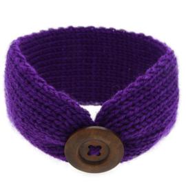 Haarbandjes gebreid knoop paars