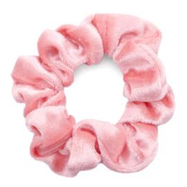 Haarelastiekjes velvet scrunchie salmon pink