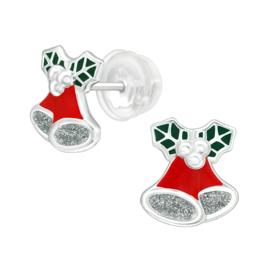 Kinderoorbellen Sterling zilver 925 Kerstklok