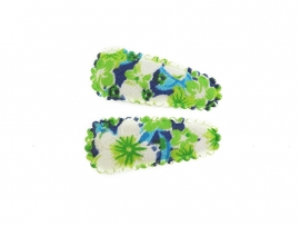 Babyhaarspeldjes groene bloem