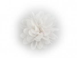 Haarbloem glitter wit