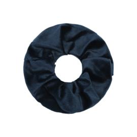 Haarelastiekjes velvet scrunchie groen/grijs