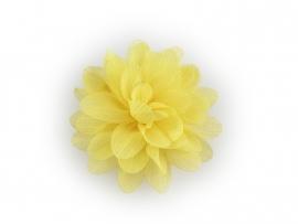 Haarbloem glitter geel