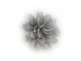 Haarbloem glitter grijs