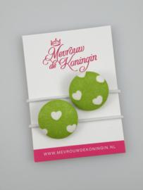 Stofknoop groene hartjes