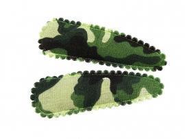 Haarspeldjes groene legerprint