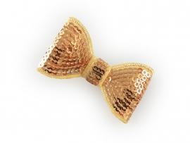 Lokknipje pailletten strik goud