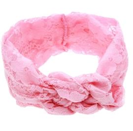 Haarbandjes kant roze