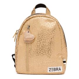 Zebra rugzakje - Gold metallic Leo (S)