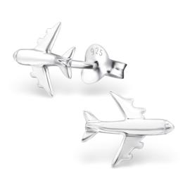 Kinderoorbellen Sterling zilver 925 Vliegtuig
